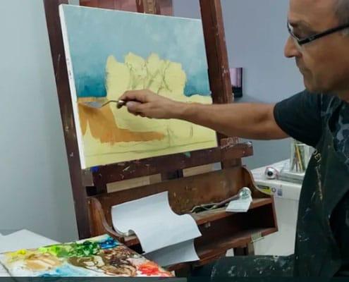 como-fazer-cestos-hortensias-curso-de-pintura-em-tela-professor-costerus